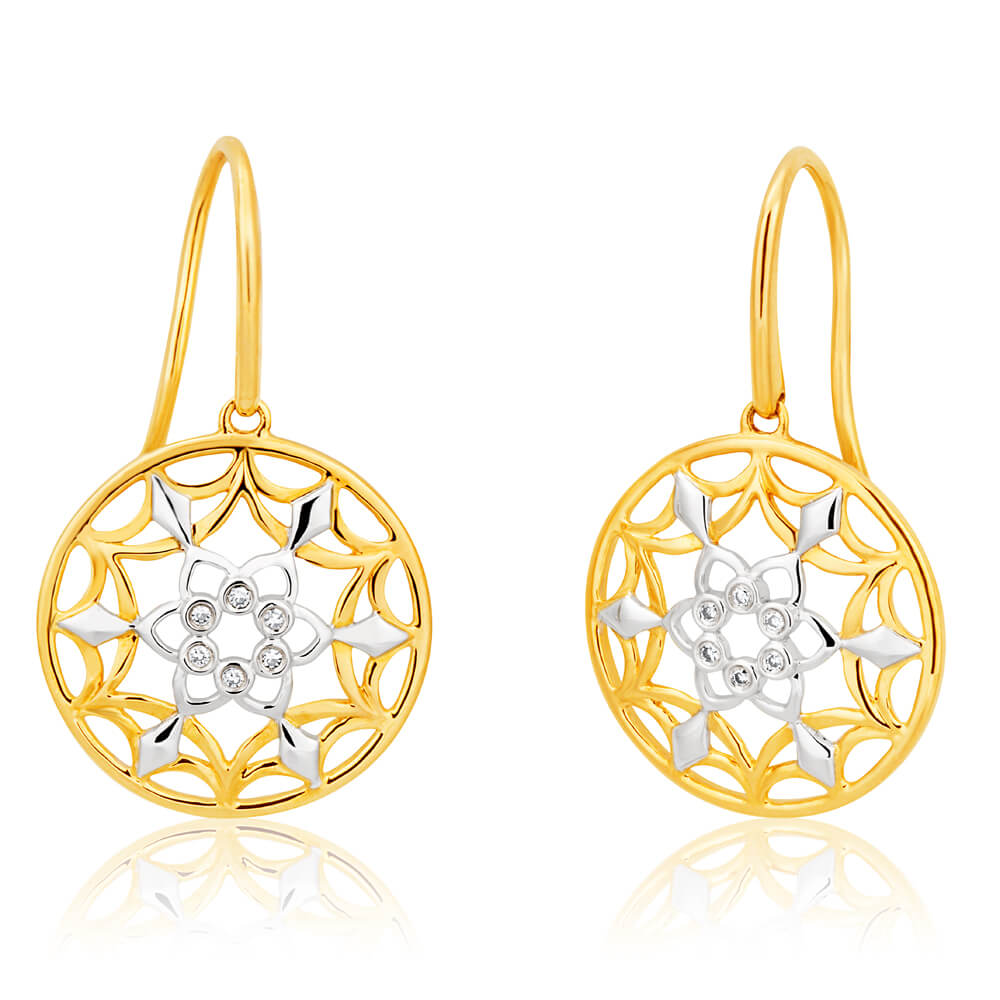 9ct Yellow Gold Enticing Diamond Earrings