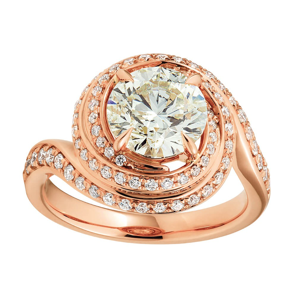 Certified Diamond 18ct Rose Gold Diamond Ring