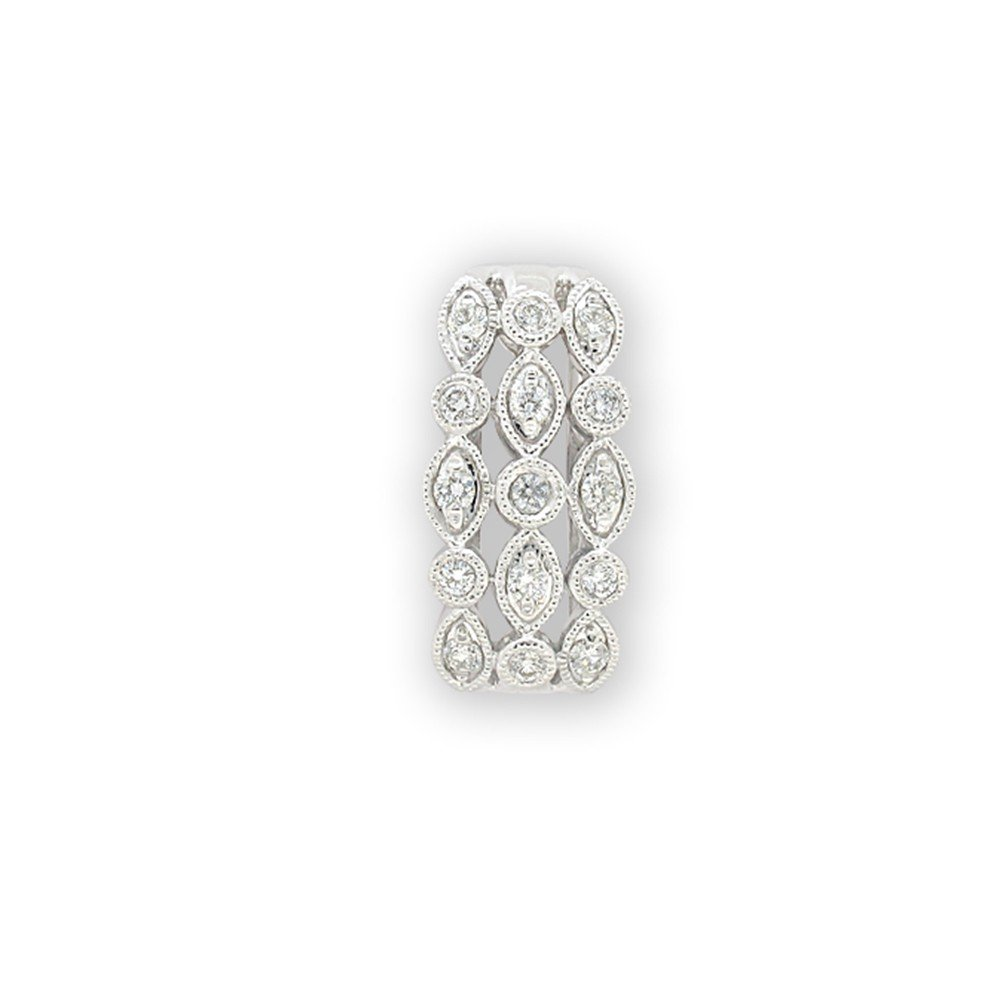 9ct White Gold Pendant with 45cm Chain with 0.35 Carat Diamonds
