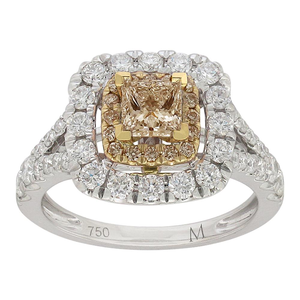 18ct White Gold 1.60 Carat Diamond Ring with 0.80 Carat Australian Diamond Centre
