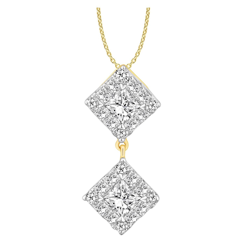 Princess Vera 14ct Yellow Gold 1/2 Carat Diamond Pendant with 45cm Chain