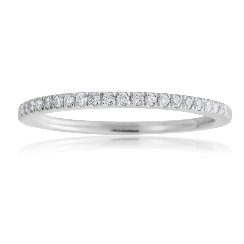 18ct White Gold Eternity Ring with 1/5 Carat Diamonds