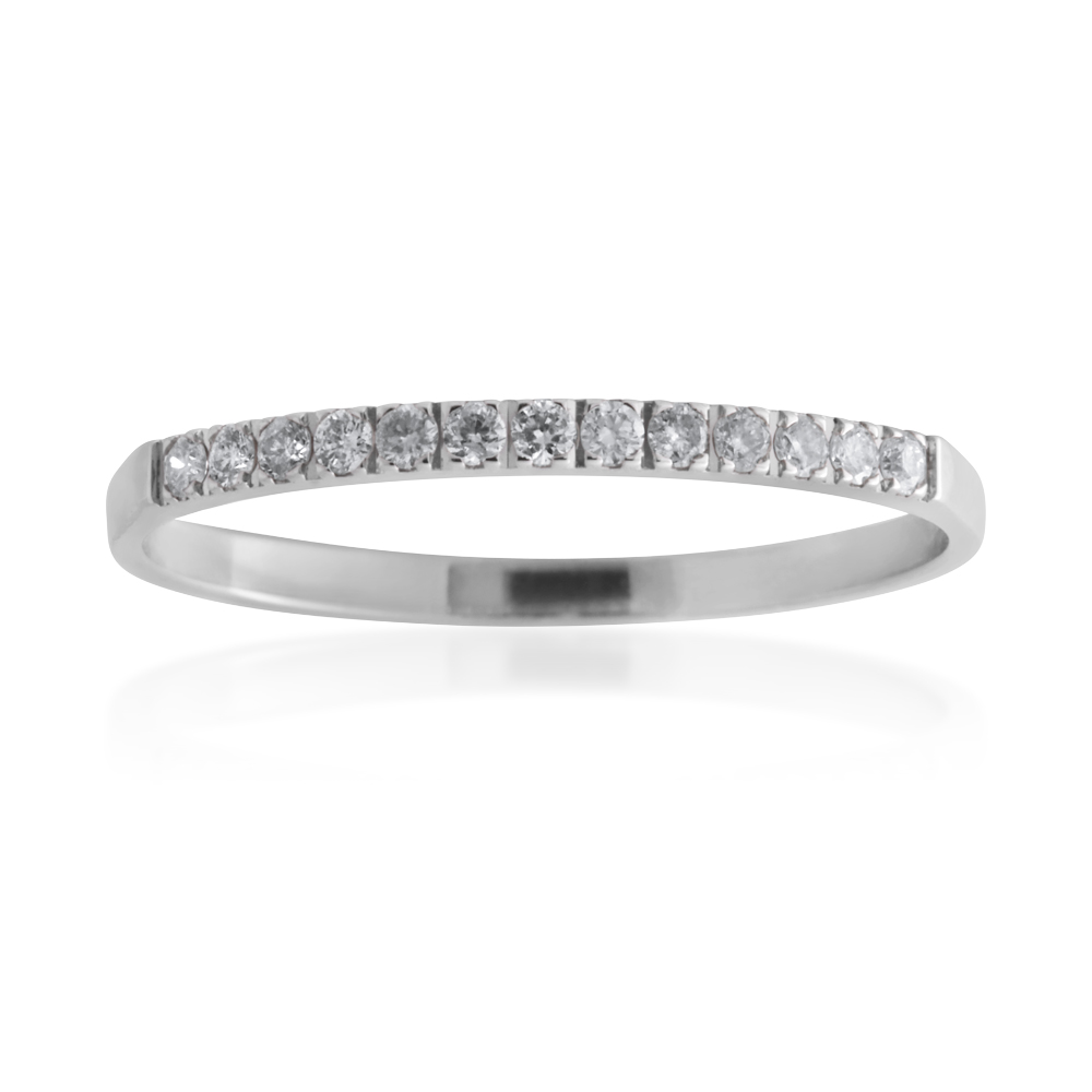 9ct White Gold Eternity Ring with 13 Diamonds