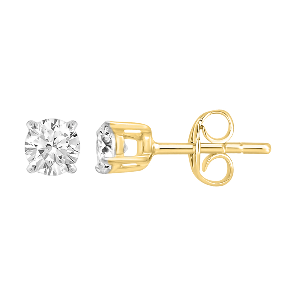 9ct Yellow Gold  0.20 Carat Diamond Stud Earrings