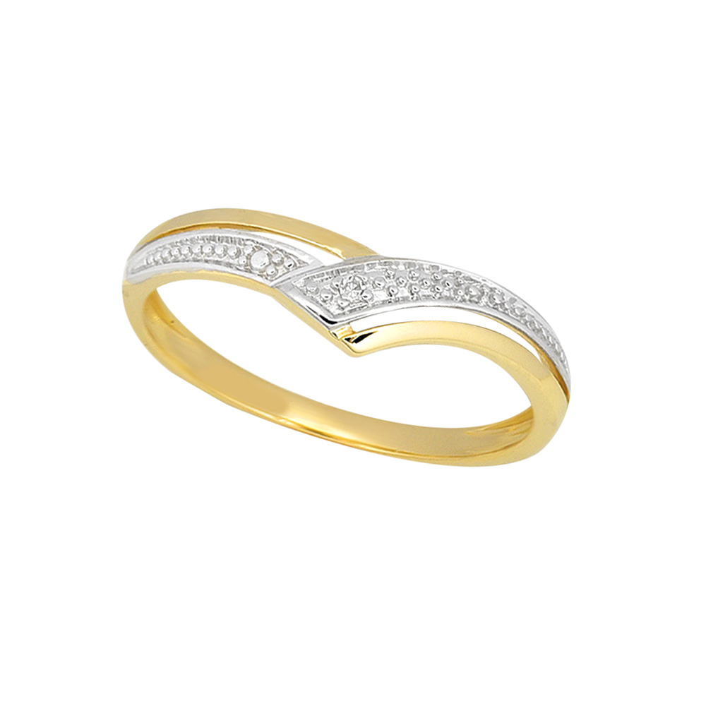 9ct Yellow Gold Diamond Ring with 1 Brilliant Diamond