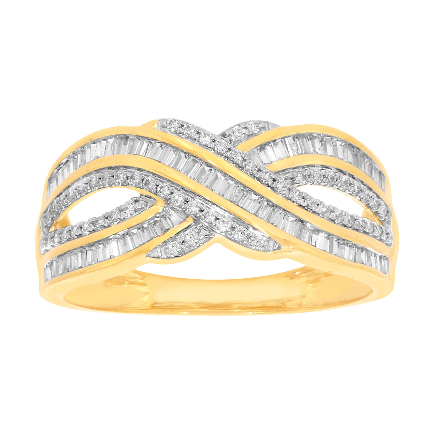 9ct Yellow Gold 1/2 Carat Diamond Ring