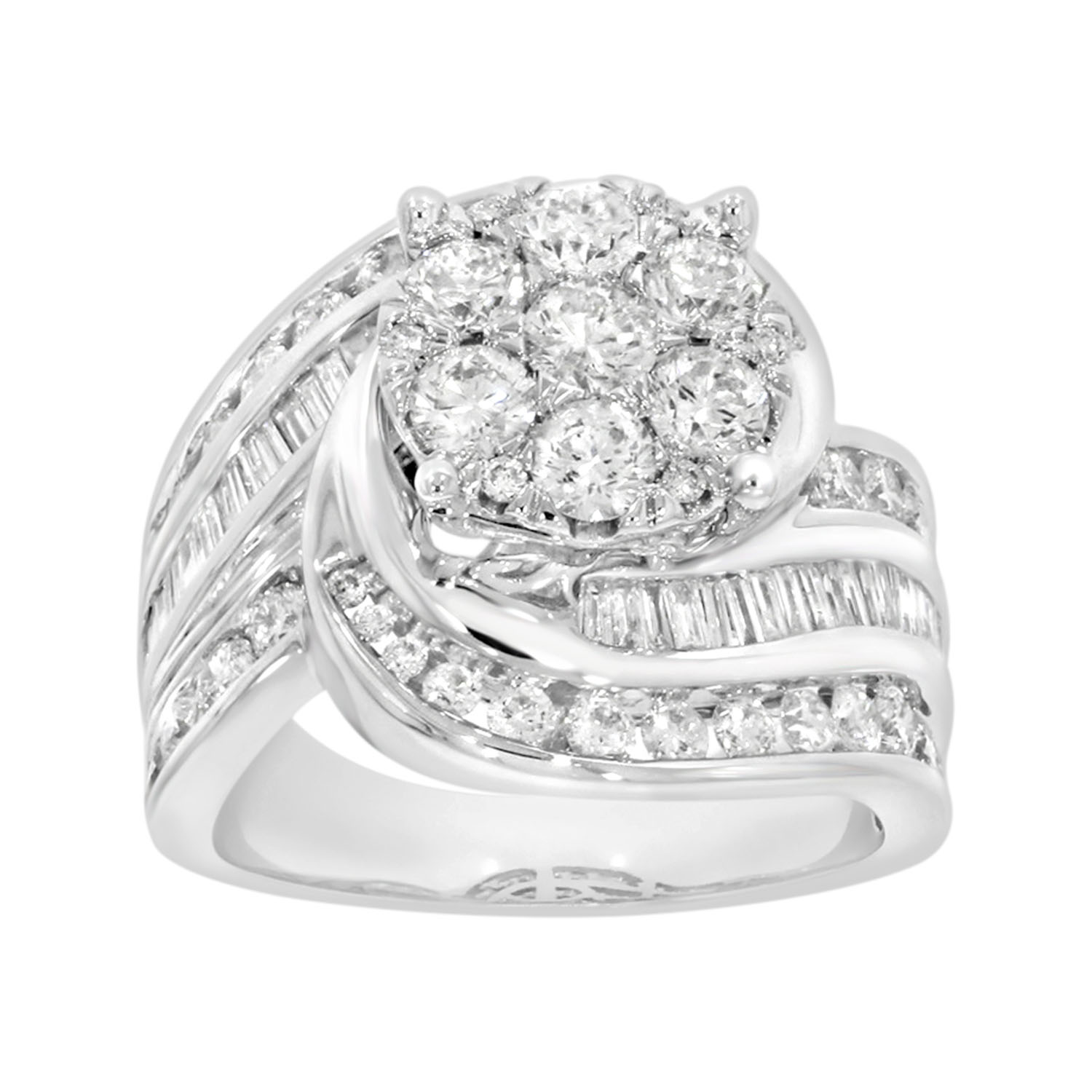 18ct White Gold 3 Carats Diamond Ring