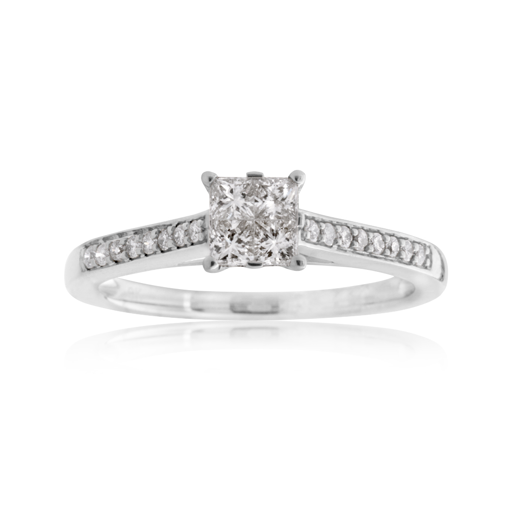 SEAMLESS LOVE 9ct White Gold Dress Ring with 1/3 Carat of Diamonds