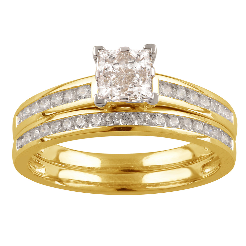 SEAMLESS LOVE 9ct White Gold 2-Ring  Bridal Set with 0.70 Carat of Diamonds
