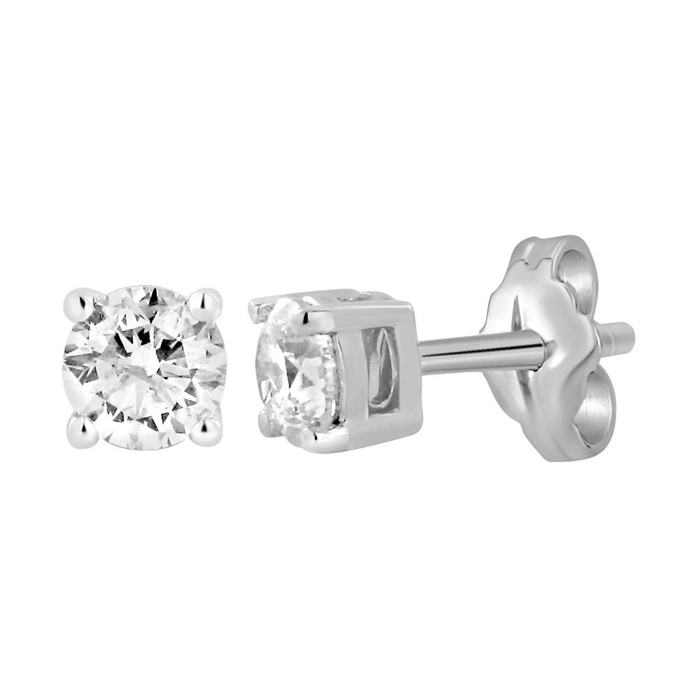 9ct White Gold  0.75 Carat Diamond Stud Earrings