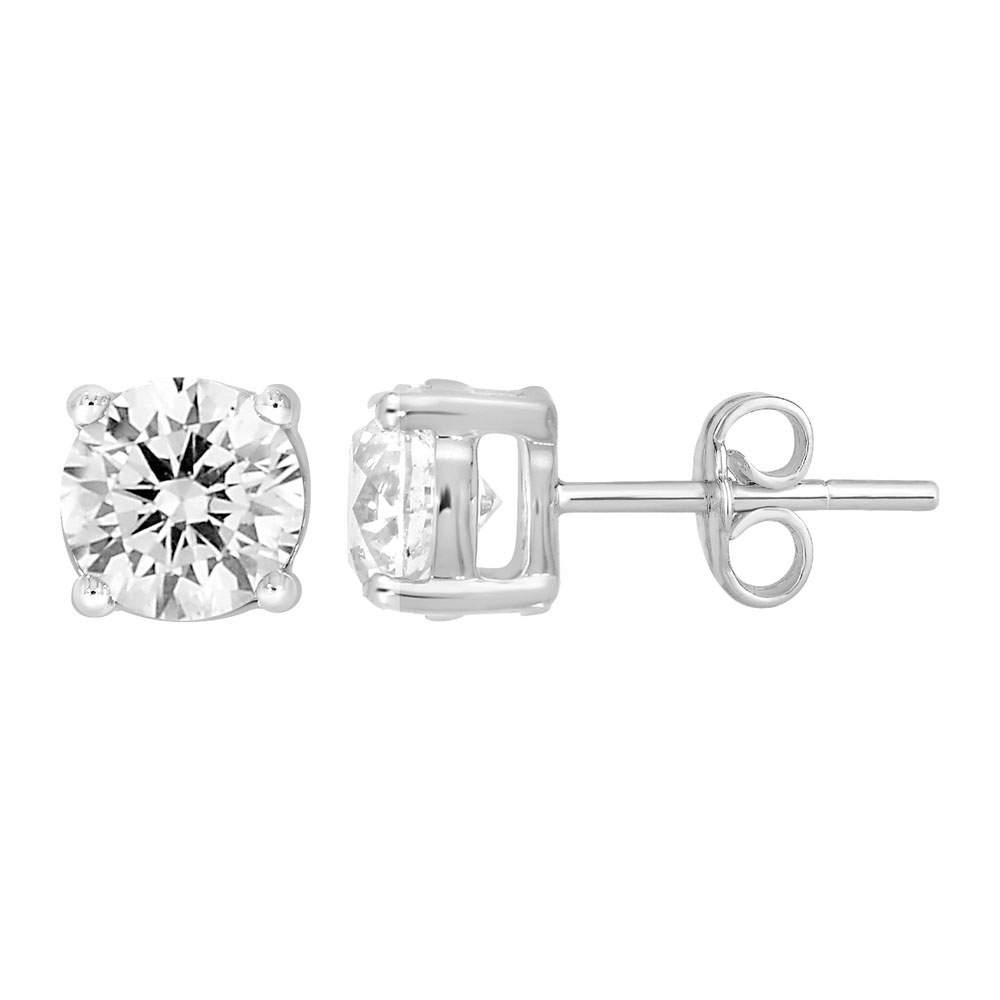 9ct White Gold  2.00 Carat Diamond Stud Earrings