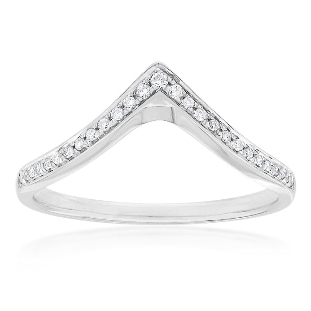 9ct White Gold Diamond Ring with 27 Brilliant Cut Diamonds