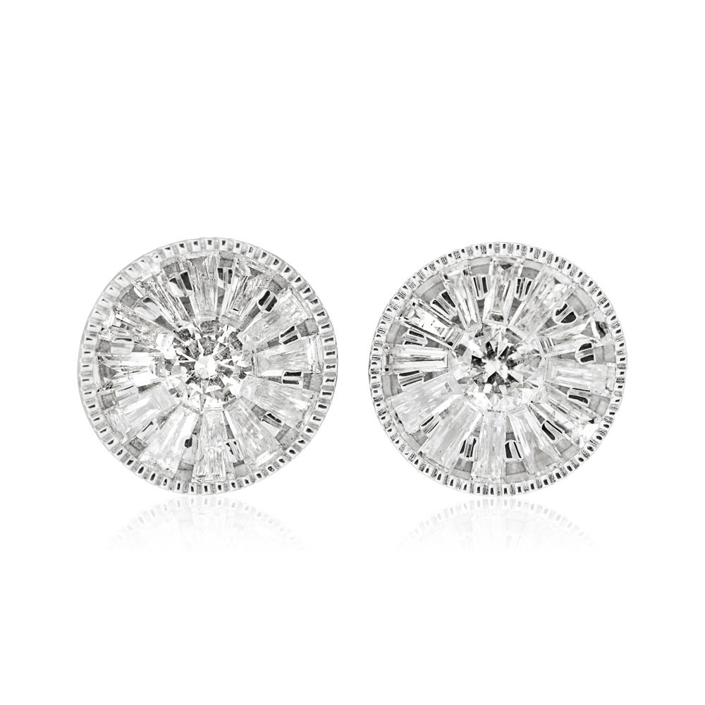 10ct White Gold 1/2 Carat Diamond Stud Earrings