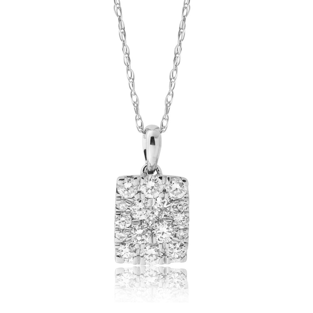 10ct White Gold 1/2 Carat Diamond Pendant