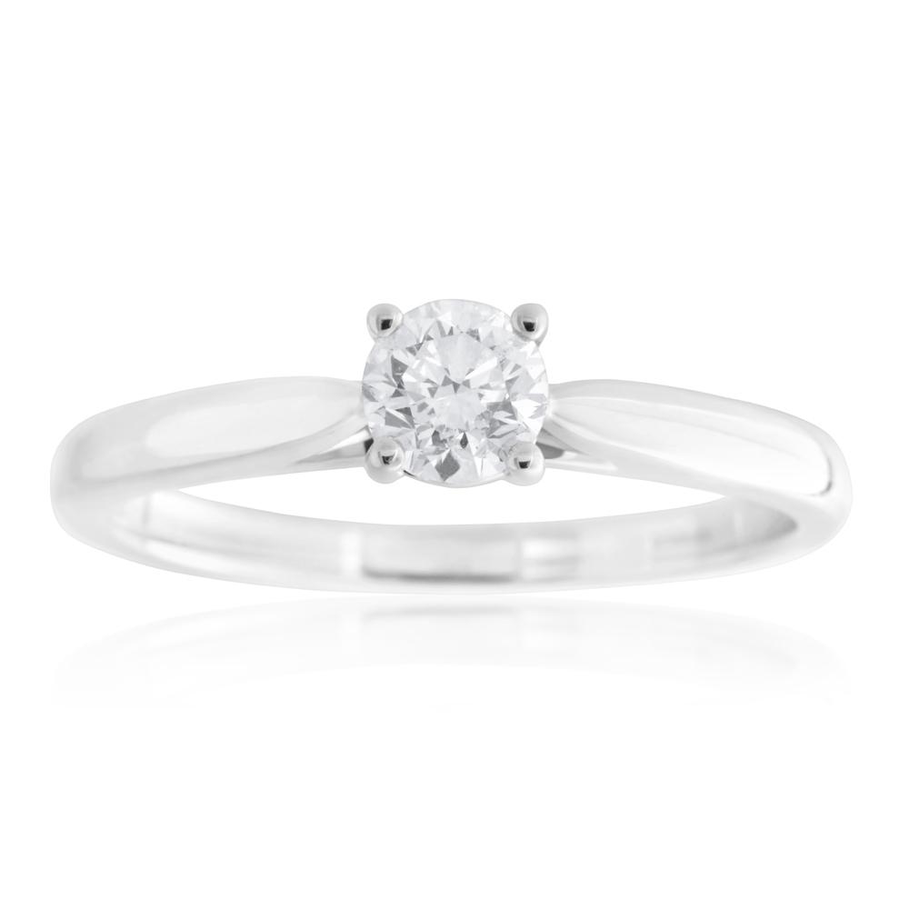 18ct White Gold 0.55 Carat Diamond Ring