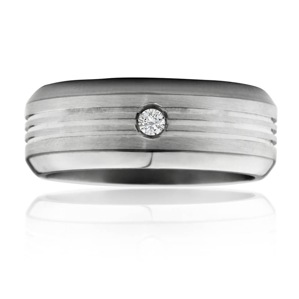 Flawless Cut Titanium 8mm Ring