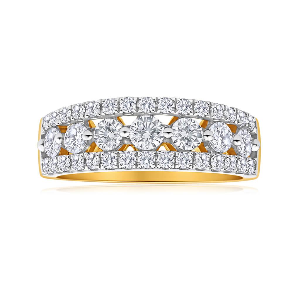 Flawless Cut 18ct Yellow Gold Diamond Ring (TW=1.00-1.09CT)
