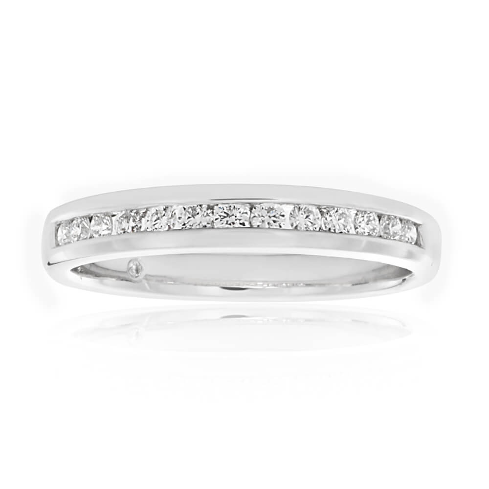 Flawless Cut 18ct White Gold Diamond Ring (TW=20pt)