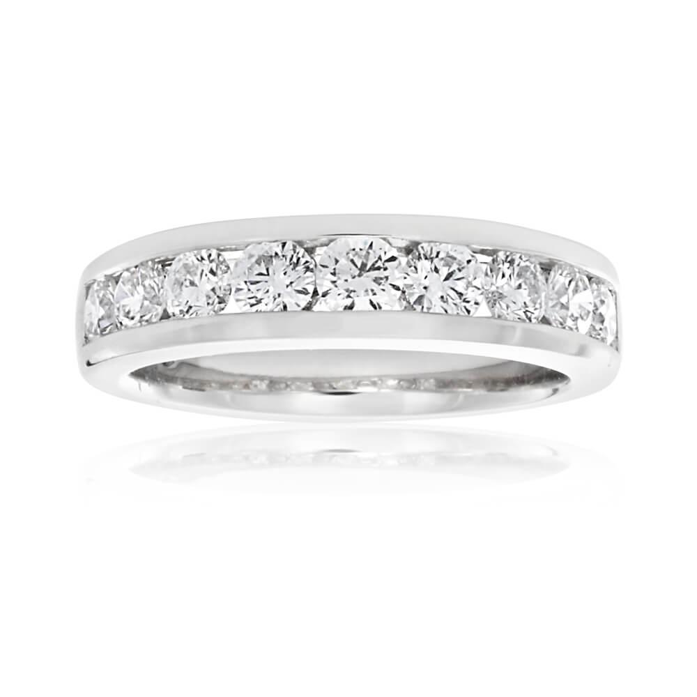 Flawless Cut 18ct White Gold Diamond Ring (TW=1CT)