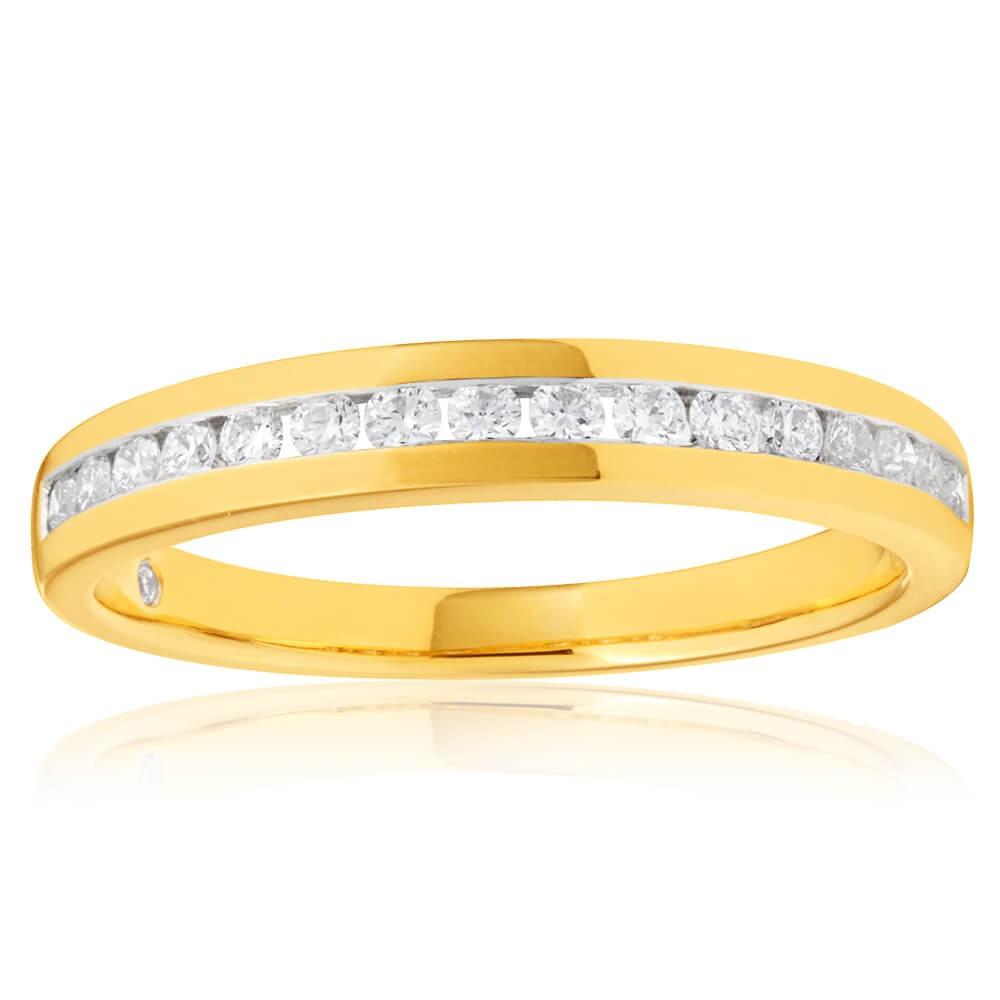 Flawless Cut 18ct Yellow Gold with 1/5 Carat
