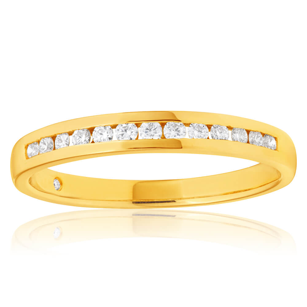 Flawless Cut 18ct Yellow Gold Diamond Ring (TW=20-24PT)