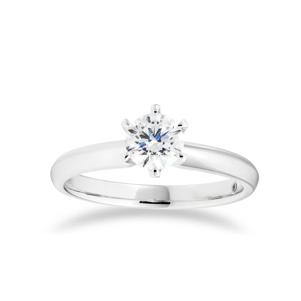 Flawless Cut 3/4 carat  Platinum Solitaire