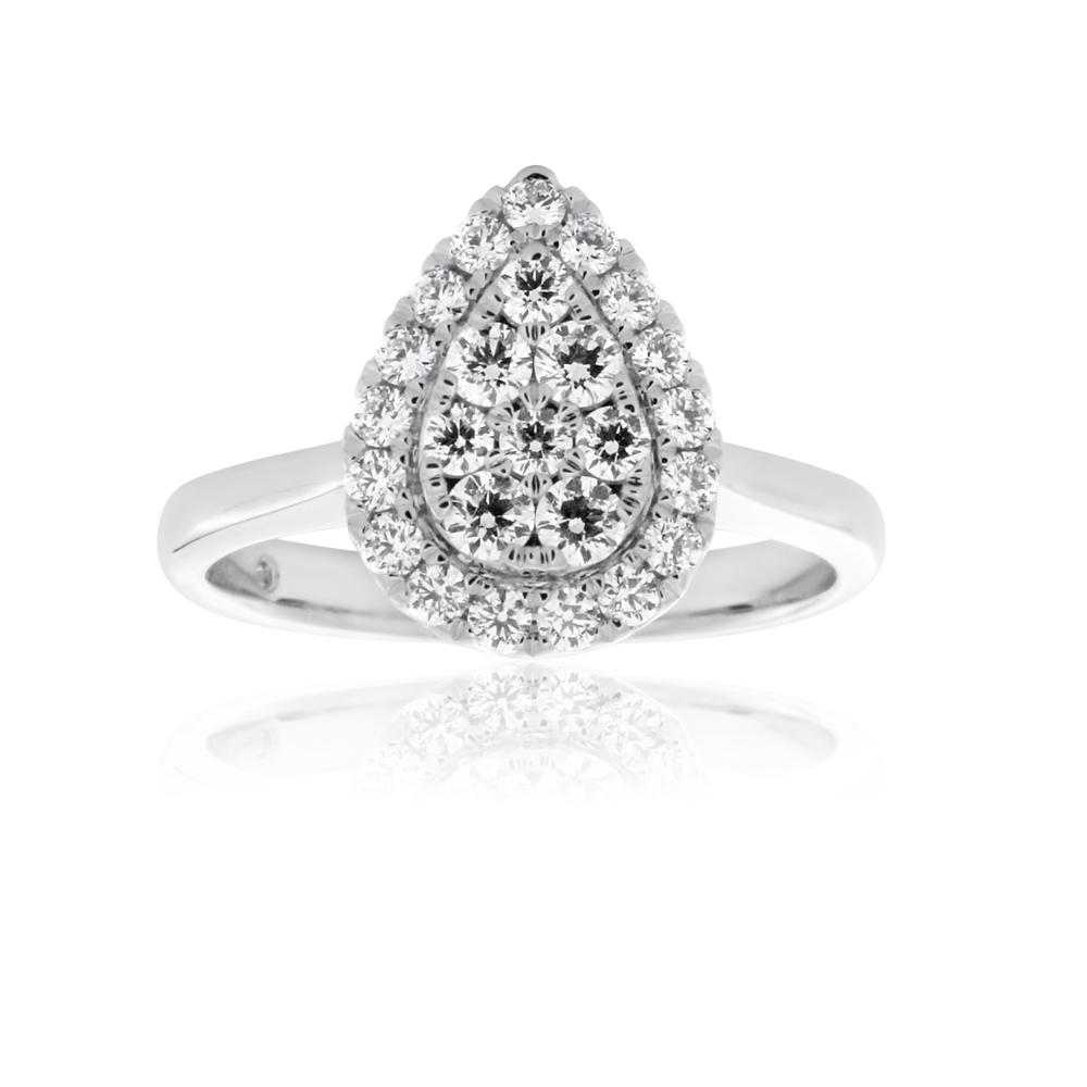 Flawless 1/2 carat  9ct White Gold Diamond Ring