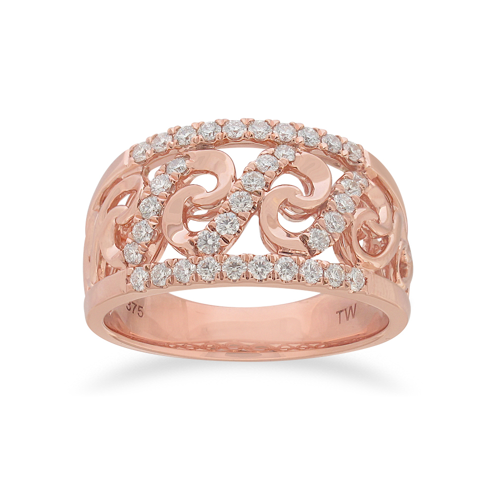 Flawless Ring 1/2 Carat TW of Diamonds in 9ct Rose Gold