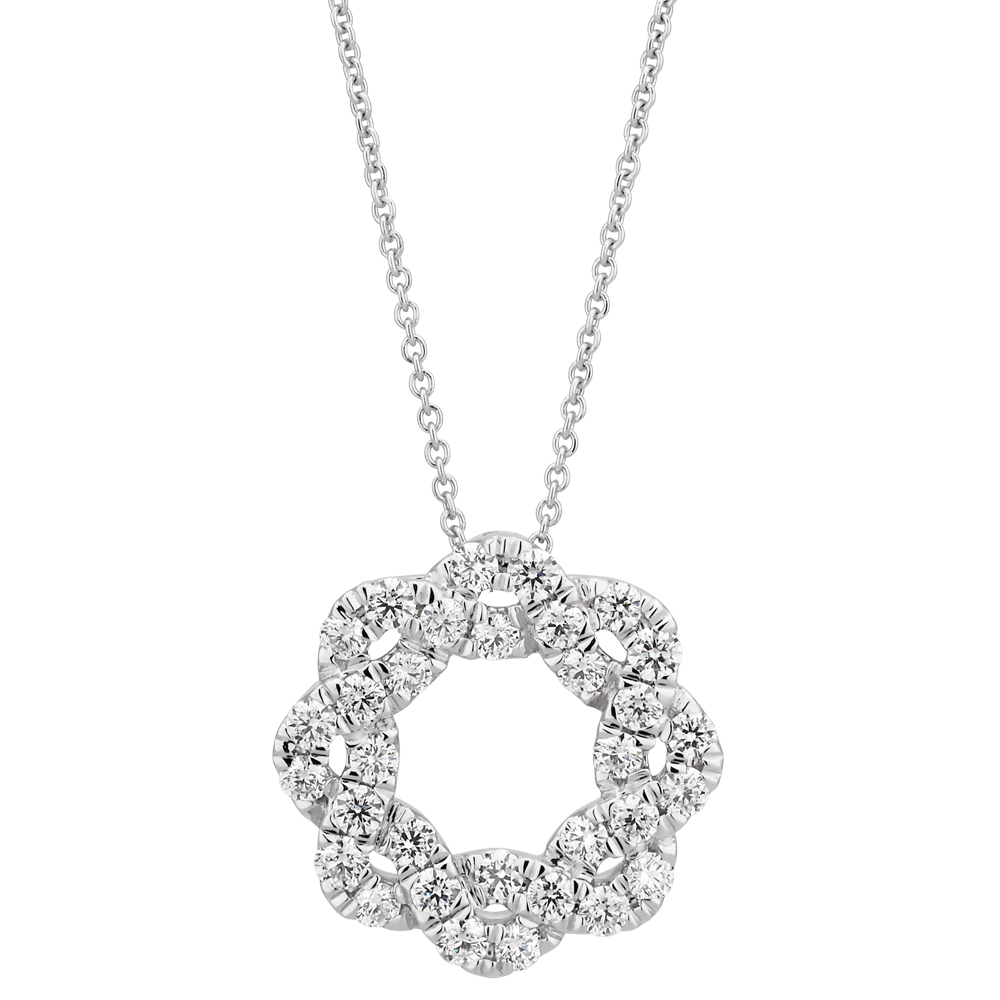 Flawless 9ct White Gold Diamond Pendant (1/2 carat)