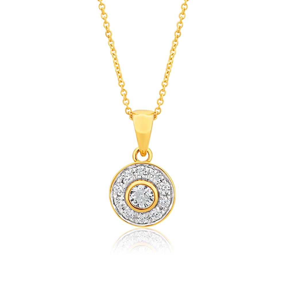 Flawless 9ct White Gold Diamond Pendant (1/4 carat)