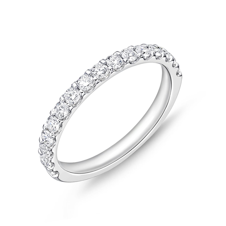 Memoire 18ct White Gold 1/2 Carat Diamond Odessa Eternity Ring