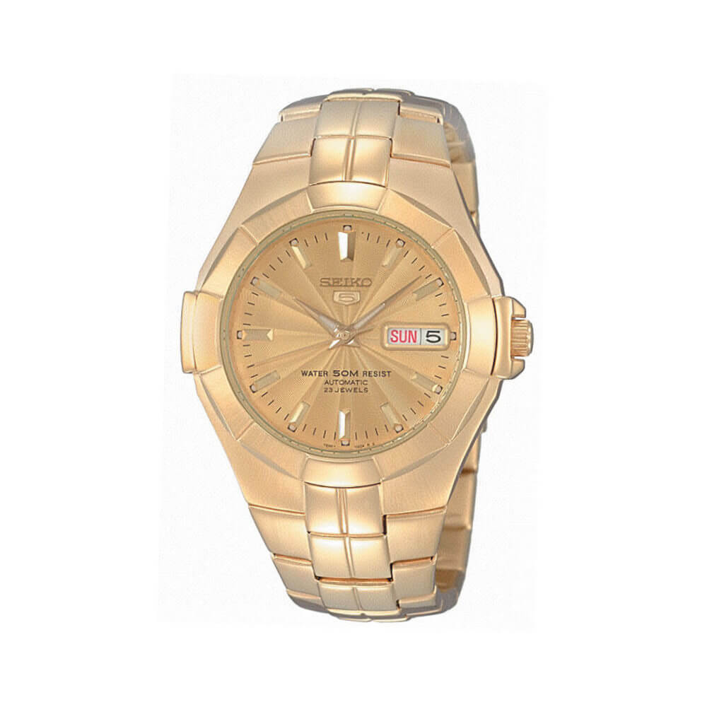 Seiko SNZE32K Automatic Gold Tone Mens Watch