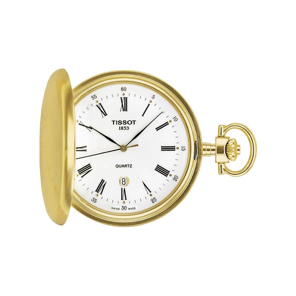 Tissot Savonnette T83455313 Gold Unisex Pocket Watch