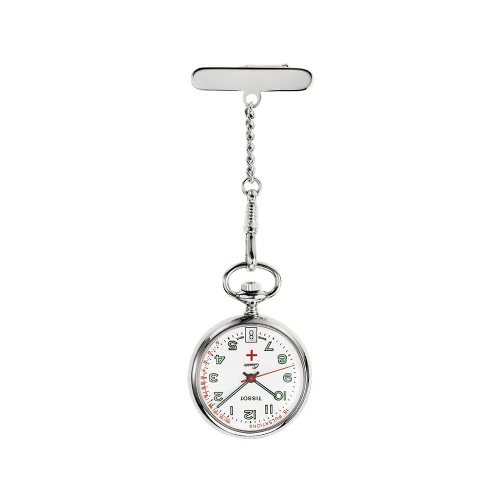 Tissot Pendants T81722112 Silver Womens Pocket Watch