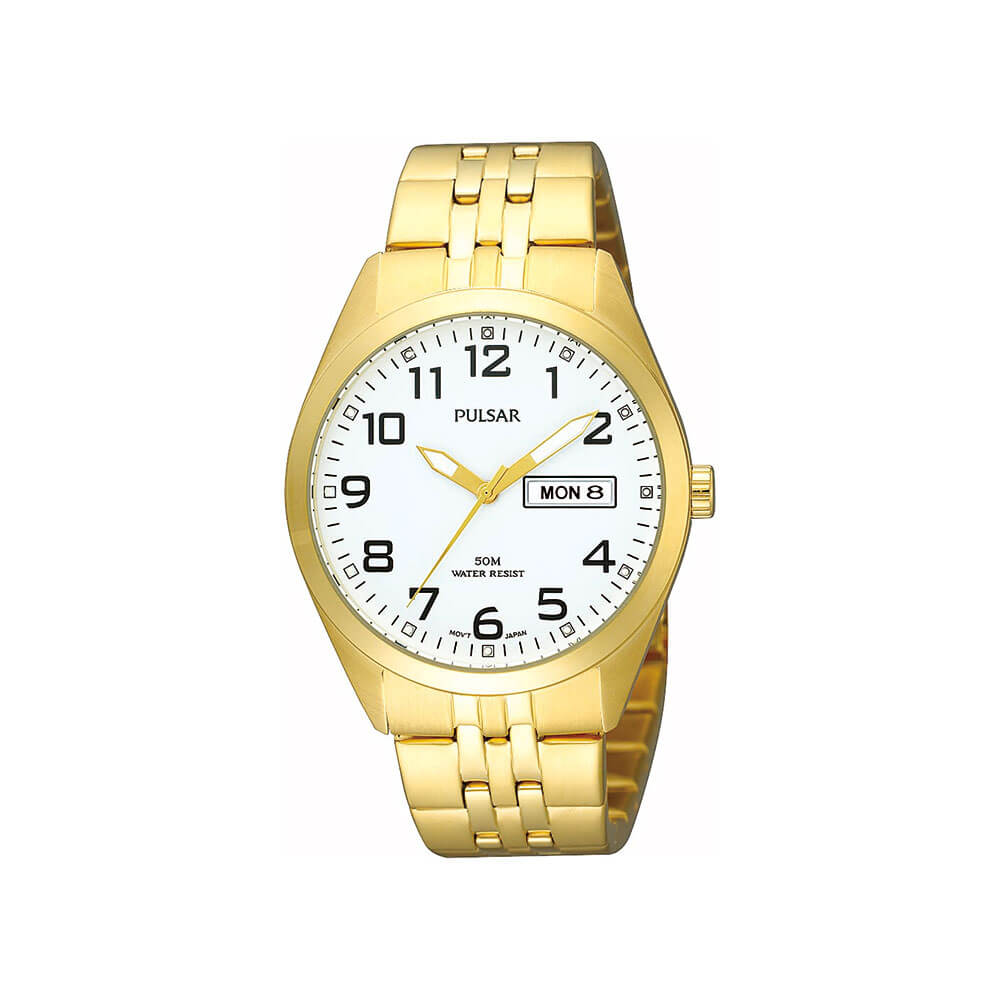 Pulsar PV3006X Mens Gold Watch