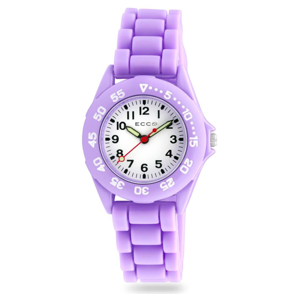ECC Kids Purple Silicone Strap Watch