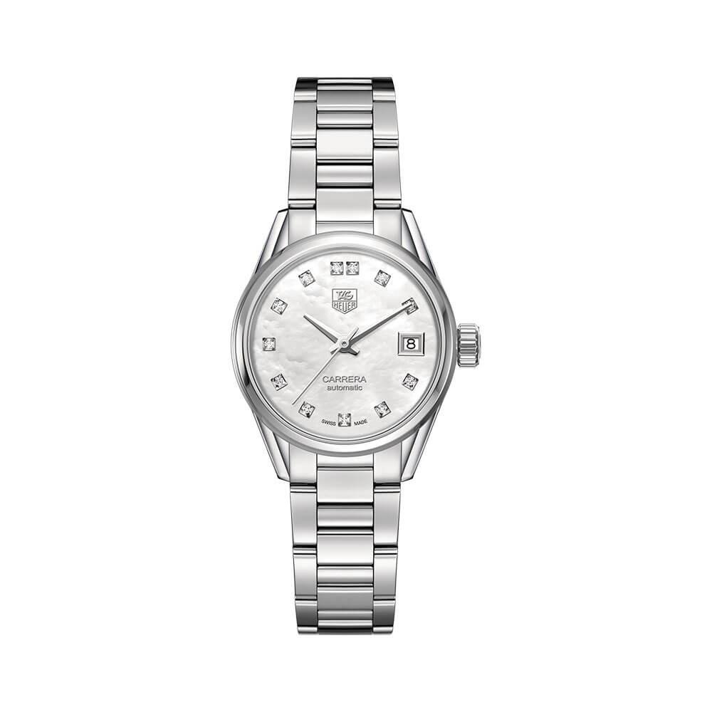 TAG Heuer Carrera Calibre 9 WAR2414BA0776 Silver Stainless Steel Womens Watch