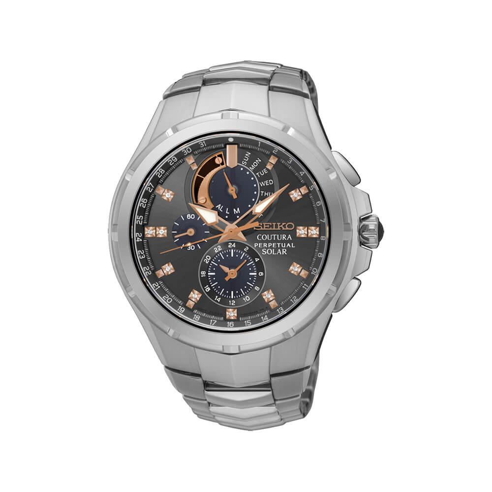 Seiko SSC561P-9 Coutura Perpetual Diamond Set Mens Watch