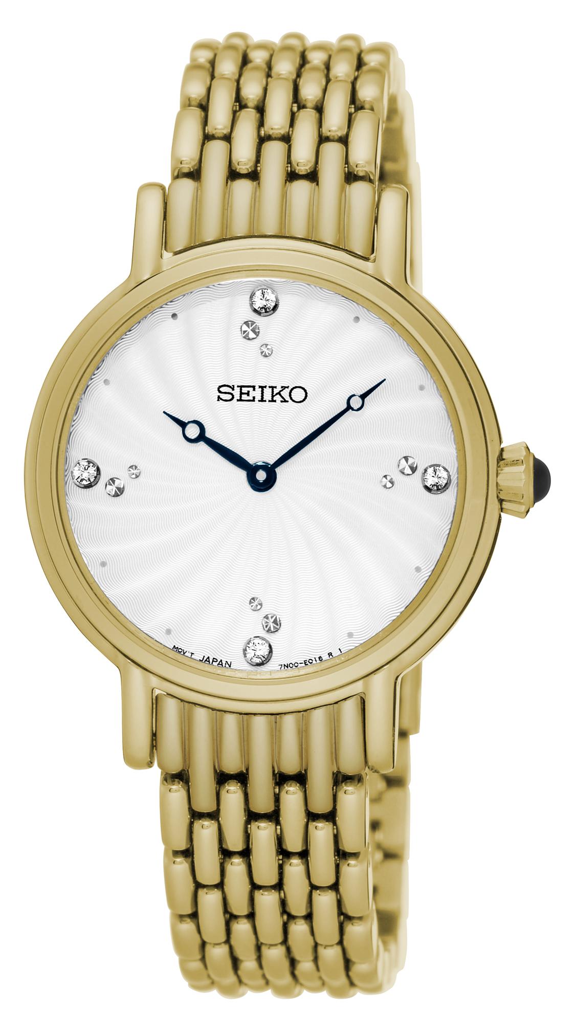 Seiko SFQ804P Crystal Set Womens Watch