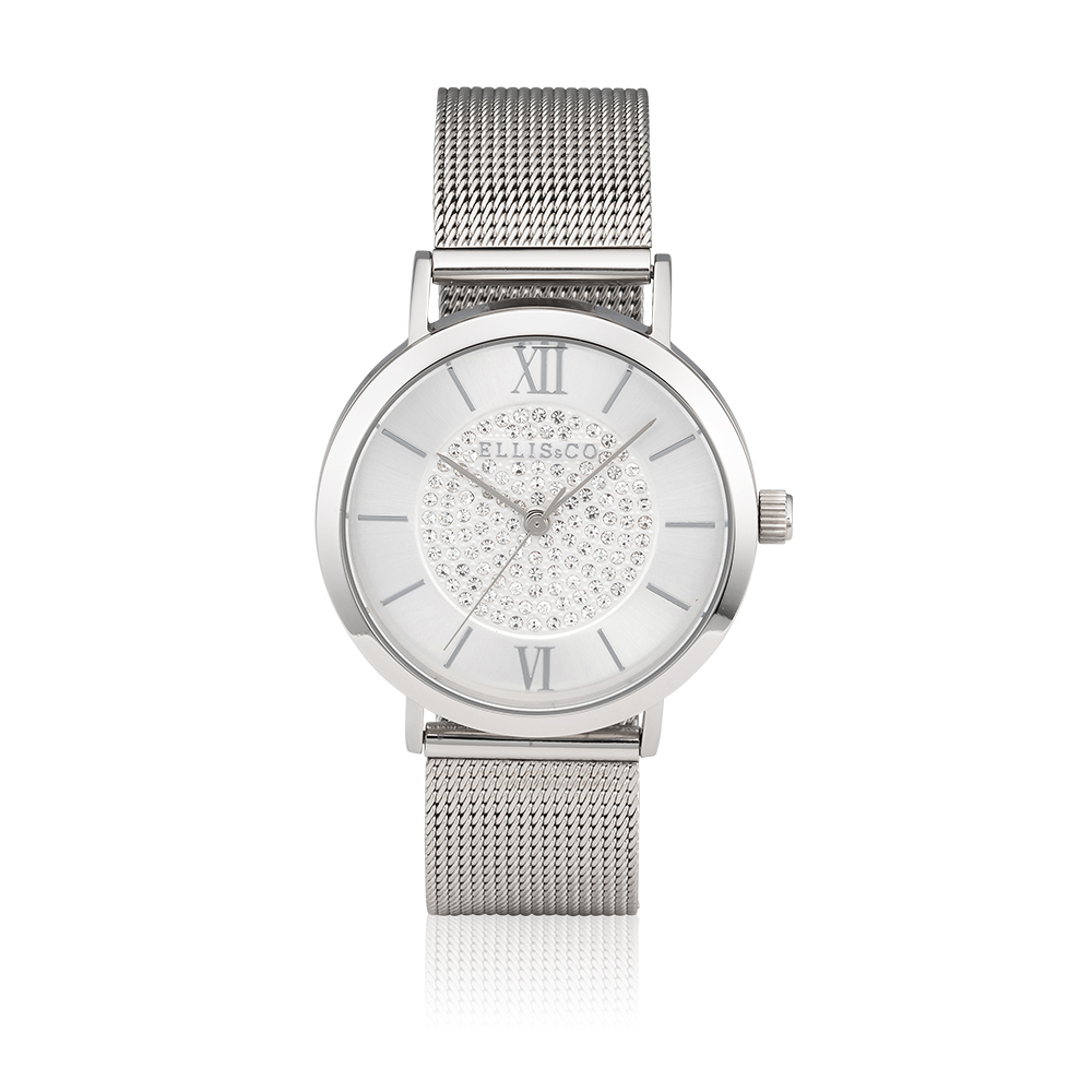 Ellis & Co Stainless Steel Mesh Unisex Watch