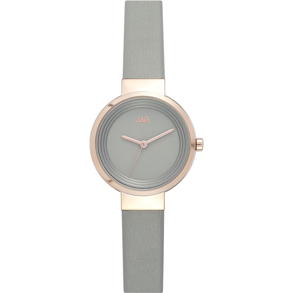 Jag Chloe J2146 Grey Leather Womens Watch