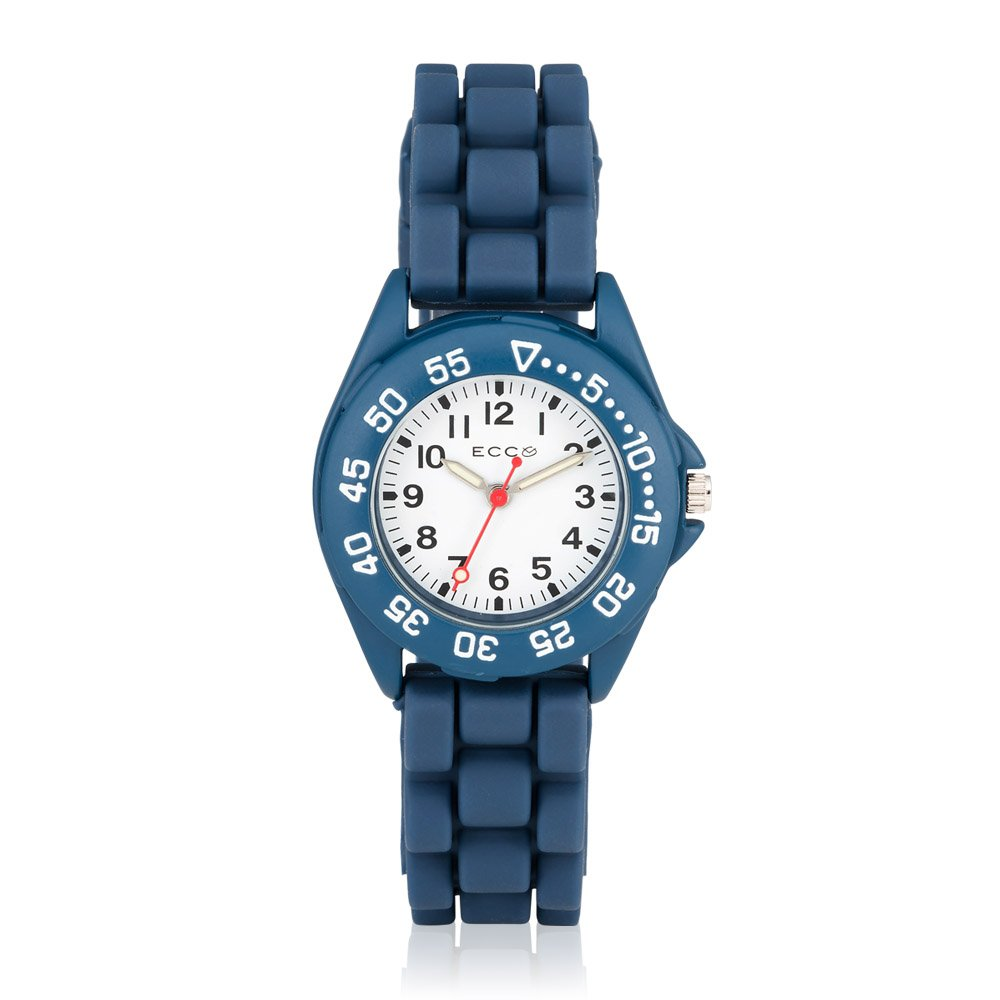 ECC Kids Navy Blue Silicone Strap Watch