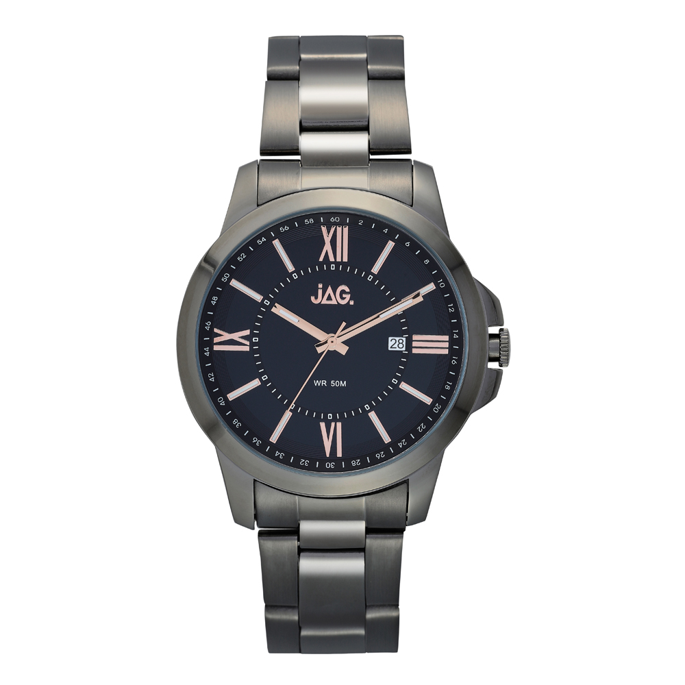 Jag Xavier J2157A Mens Gunmetal Grey Stainless Steel Mens Watch