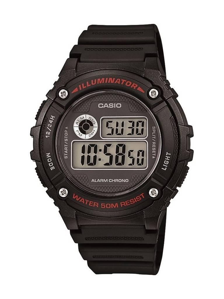Casio Digital Alarm W216H-1A Unisex watch