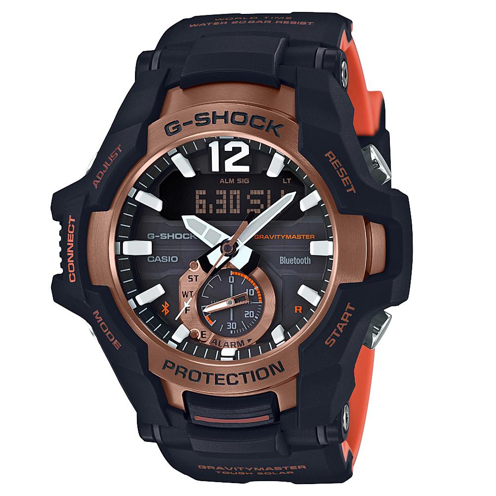 G Shock Gravity Master GRB100-1A4 Twin Sensor Bluetooth Black Mens Watch