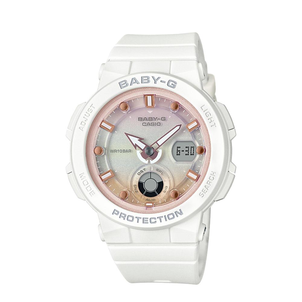 Baby G BGA250-7A2 Pink Beach Theme Ladies Watch