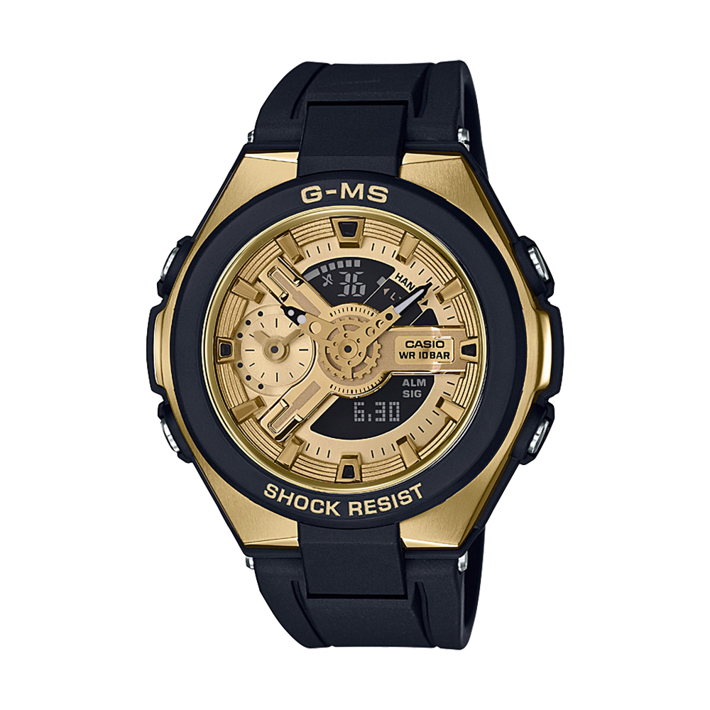 Baby G MSG400G-1A2 Black And Gold Ladies Watch
