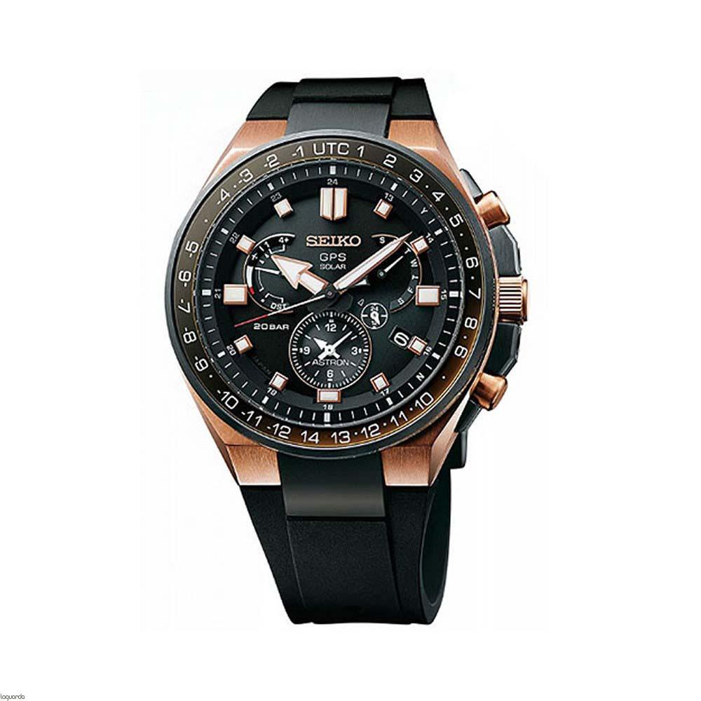 Seiko Astron SSE170J GPS GPS Solar Titanium Mens Watch