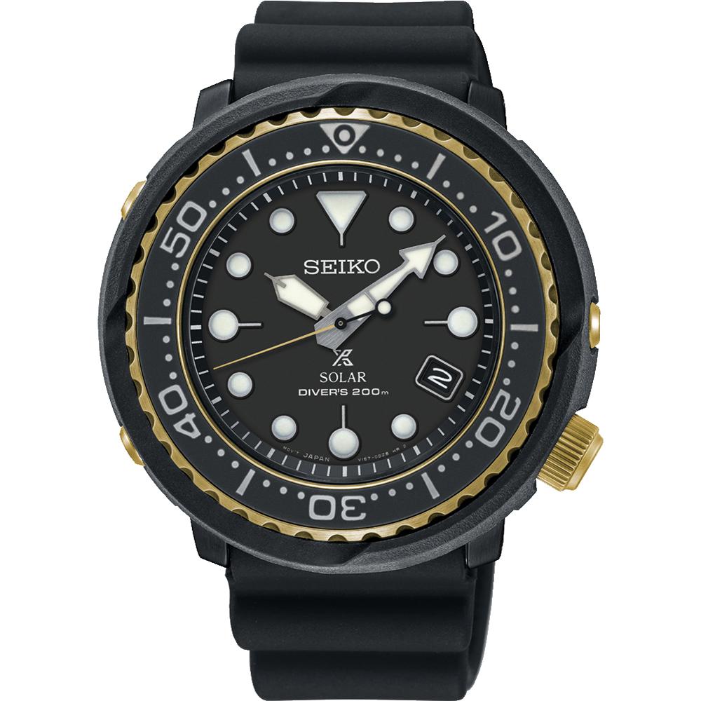 Seiko SNE498P Mens Black Diver Watch