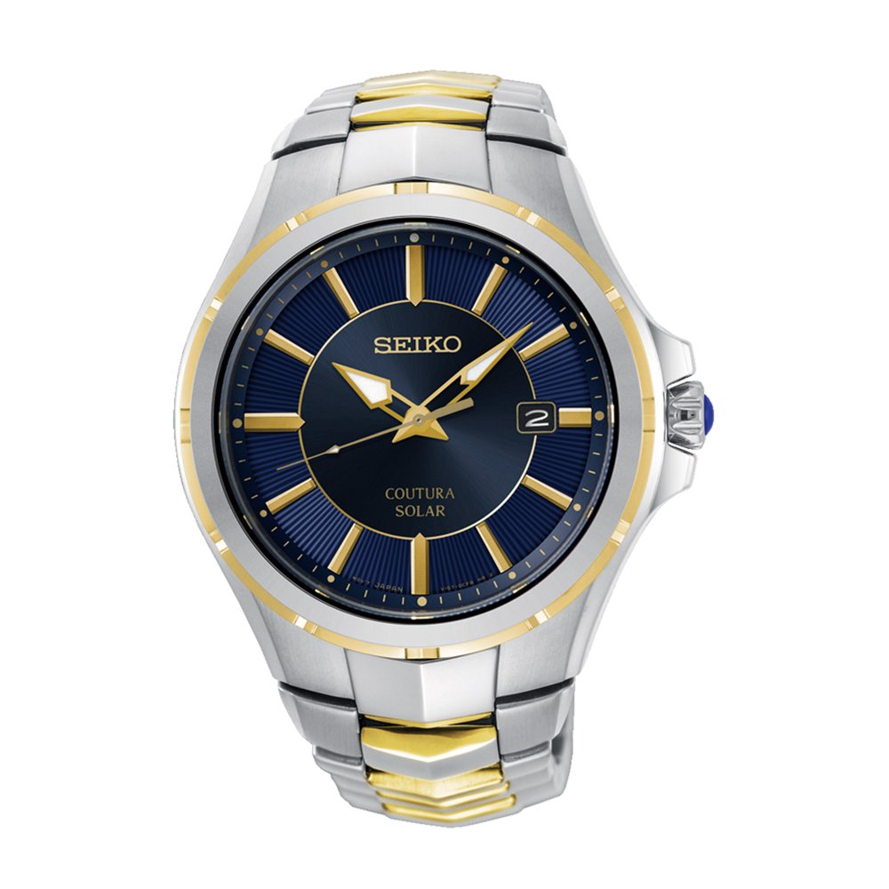 Seiko SNE514P Two Tone Stainless Steel Solar Mens Watch